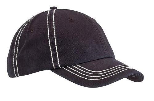 Contrast Thick Stitch Cap-Unstructured