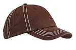 Contrast Thick Stitch Cap-Unstructured - Chocolate/Cream on Sale