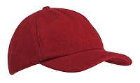 BA528 Melton Wool Cap - Red on Sale
