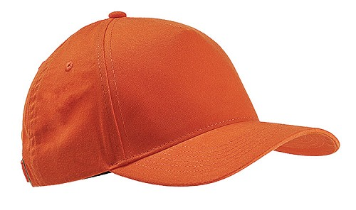 5-PANEL BRUSHED CAP STRUCTURED - Orange on Sale